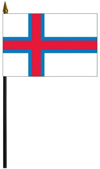 "MRF-46-FAROEISLANDS Faroe Islands 4'' x 6"" Staff Mounted Rayon-0"