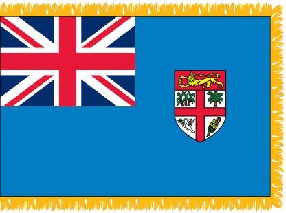 FWI-235-3X5FIJI Fiji 3' x 5' Indoor Flag with Pole Sleeve and Fringe-0