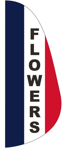 FEF-3X8-FLOWERS Flowers 3' x 8' Message Feather Flag-0