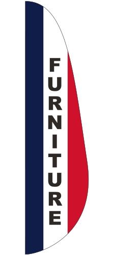FEF-3X12-FURNITURE Furniture 3' x 12' Message Feather Flag-0