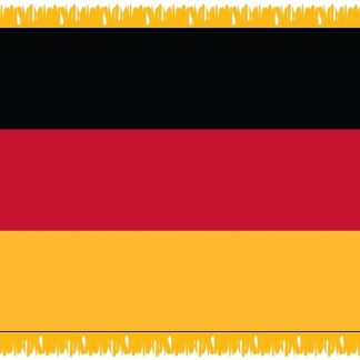 FWI-210-4X6GERMANY Germany 4' x 6' Indoor Flag with Pole Sleeve and Fringe-0