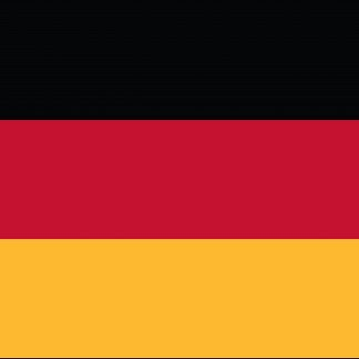 FW-110-4X6GERMANY Germany 4' x 6' Outdoor Nylon Flag with Heading and Grommets-0