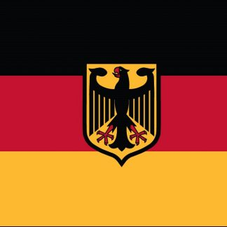 031641 Germany with Eagle 4' x 6' Outdoor Nylon Flag with Heading and Grommets-0