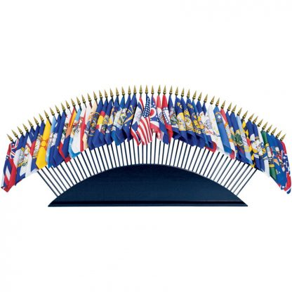 """050519 Black Wood Table Base- Holds 51 4"""" x 6"""" or 8"""" x 12"""" Flags-0"""