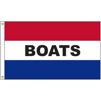 A-120006 Boats 3' x 5' Flag with Heading and Grommets-0