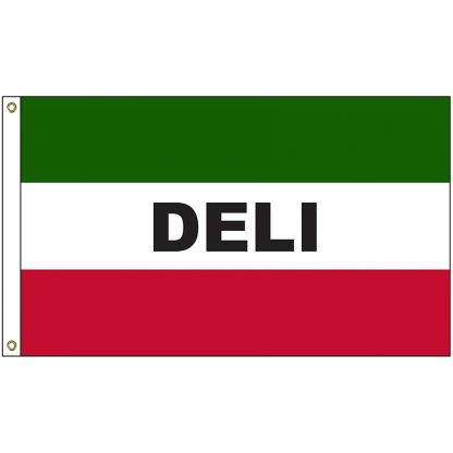A-120022 Deli 3' x 5' Flag with Heading and Grommets-0