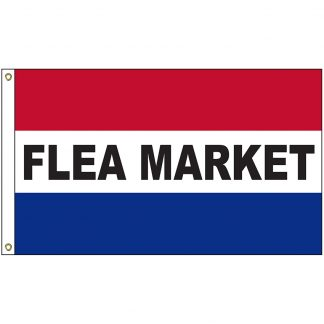 A-120027 Flea Market 3' x 5' Flag with Heading and Grommets-0