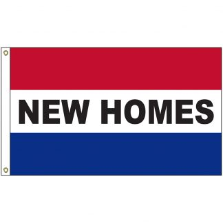 A-120045 New Homes 3' x 5' Flag with Heading and Grommets-0