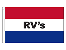 A-120059 RV's 3' x 5' Flag with Heading and Grommets-0