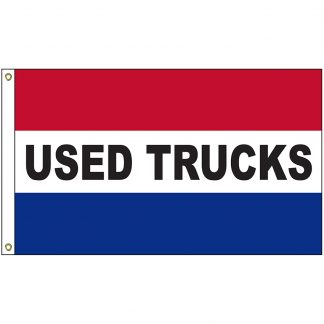 A-120080 Used Trucks 3' x 5' Flag with Heading and Grommets-0