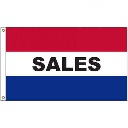 A-6116 Sales 3' x 5' Flag with Heading and Grommets-0