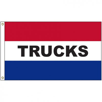 A-6135 Trucks 3' x 5' Flag with Heading and Grommets-0