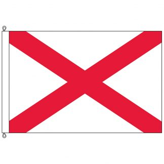 SF-1015-ALABAMA Alabama 10' x 15' Nylon Flag with Rope and Thimble-0