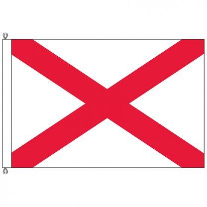 SF-812-ALABAMA Alabama 8' x 12' Nylon Flag with Rope and Thimble-0