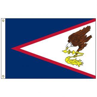 SF-102-AMERICANSAMOA American Samoa 2' x 3' Nylon Flag with Heading and Grommets-0