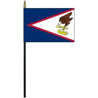 """MRF-46-AMERSAMOA American Samoa 4"""" x 6"""" Staff Mounted Rayon-0"""