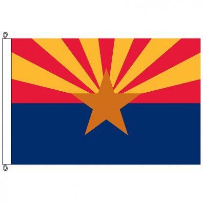 SF-1218-ARIZONA Arizona 12' x 18' Nylon Flag with Rope and Thimble-0