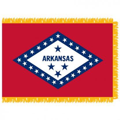 SFI-203-ARKANSAS Arkansas 3' x 5' Indoor Flag-0