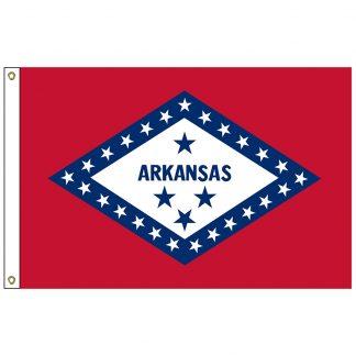 SF-106-ARKANSAS Arkansas 6' x 10' Nylon Flag with Heading and Grommets-0