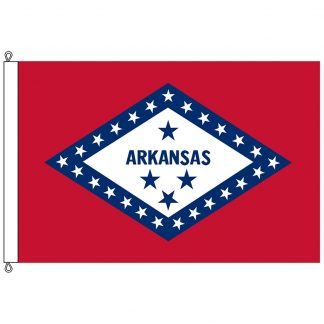 SF-1015-ARKANSAS Arkansas 10' x 15' Nylon Flag with Rope and Thimble-0