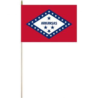 "EPC-1218-ARKANSAS Arkansas 12"" x 18"" Stick Flag-0"