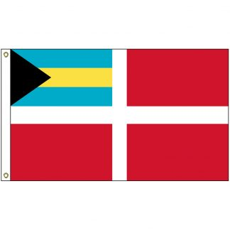 "IFM-04 Bahamas Red 12"" x 18"" Nylon Boat Flag with 2 Brass Grommets-0"