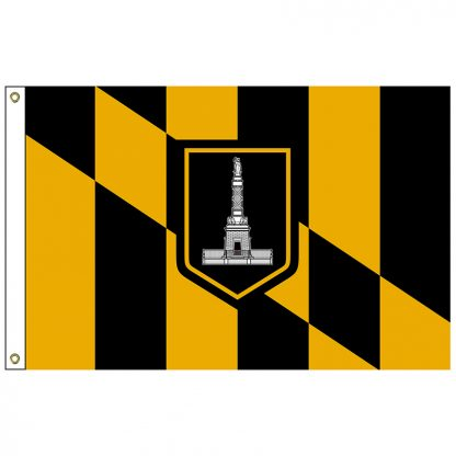 CF-5X8-BALTIMORE Baltimore 5' x 8' Nylon Flag with Heading and Grommets-0
