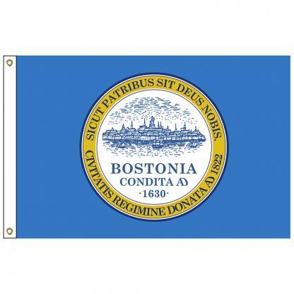 CF-4X6-BOSTON Boston 4' x 6' Nylon Flag with Heading and Grommets-0