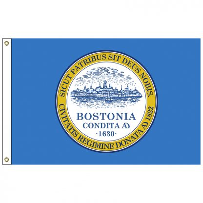CF-3X5-BOSTON Boston 3' x 5' Nylon Flag with Heading and Grommets-0