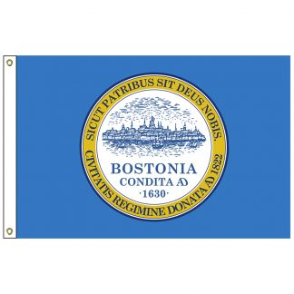 CF-2X3-BOSTON Boston 2' x 3' Nylon Flag with Heading and Grommets-0