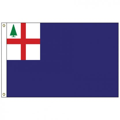 HF-403 Bunker Hill Blue 3' x 5' Outdoor Nylon Flag with Heading and Grommets-0