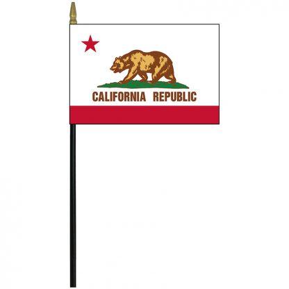 """MRF-46-CALIFORNIA California 4"""" x 6"""" Staff Mounted Rayon-0"""