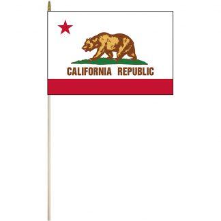 "EPC-1218-CALIFORNIA California 12"" x 18"" Stick Flag-0"