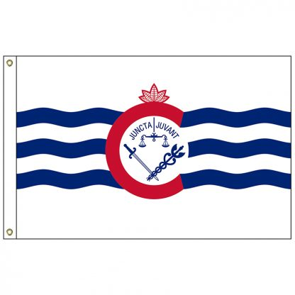 CF-5X8-CINN Cincinnati 5' x 8' Nylon Flag with Heading and Grommets-0