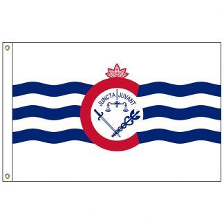 CF-3X5-CINN Cincinnati 3' x 5' Nylon Flag with Heading and Grommets-0