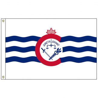 CF-2X3-CINN Cincinnati 2' x 3' Nylon Flag with Heading and Grommets-0