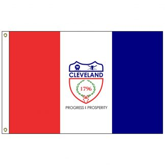 CF-6X10-CLEVELAND Cleveland 6' x 10' Nylon Flag with Heading and Grommets-0
