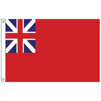 HF-405 Colonial Red Ensign 3' x 5' Outdoor Nylon Flag with Heading and Grommets-0