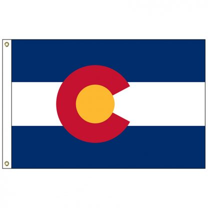 SF-104P-COLORADO Colorado 4' x 6' 2-ply Polyester Flag with Heading and Grommets-0