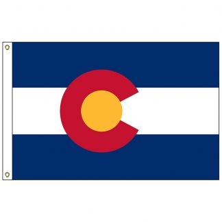 SF-102-COLORADO Colorado 2' x 3' Nylon Flag with Heading and Grommets-0