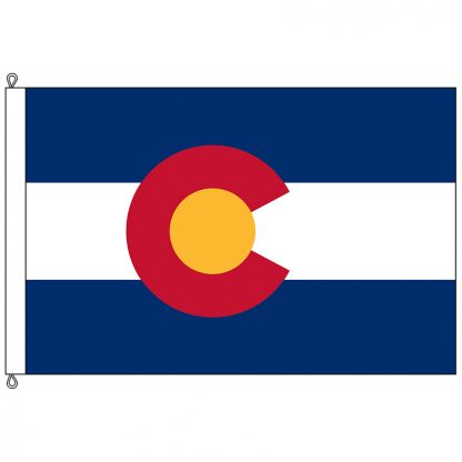 SF-1218-COLORADO Colorado 12' x 18' Nylon Flag with Rope and Thimble-0