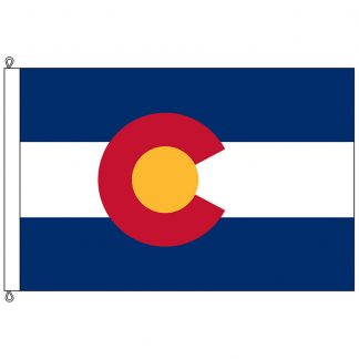 SF-812-COLORADO Colorado 8' x 12' Nylon Flag with Rope and Thimble-0
