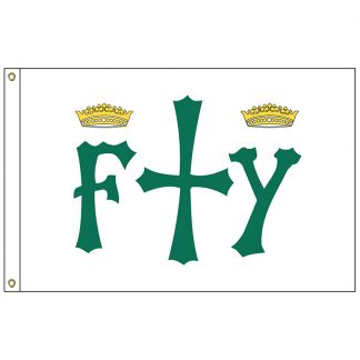 HF-406 Columbus 3' x 5' Outdoor Nylon Flag with Heading and Grommets-0