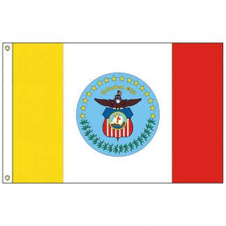 CF-4X6-COLUMB Columbus 4' x 6' Nylon Flag with Heading and Grommets-0