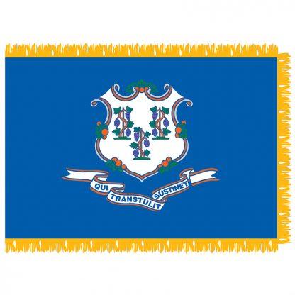 SFI-204-CONNECTICUT Connecticut 4' x 6' Indoor Flag-0