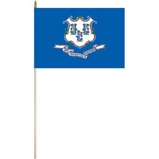 """EPC-1218-CONNECTICUT Connecticut 12"""" x 18"""" Stick Flag-0"""