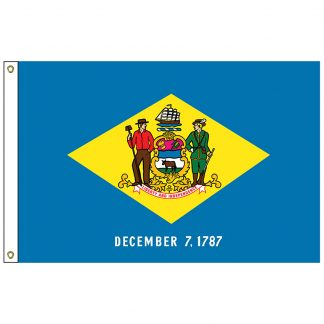 SF-104P-DELAWARE Delaware 4' x 6' 2-ply Polyester Flag with Heading and Grommets-0