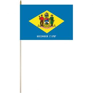 """EPC-1218-DELAWARE Delaware 12"""" x 18"""" Stick Flag-0"""
