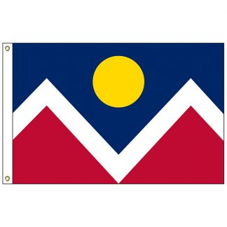 CF-2X3-DENVER Denver 2' x 3' Nylon Flag with Heading and Grommets-0