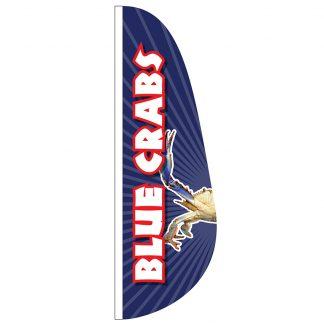 FF-E-310-BLUECRAB Blue Crabs 3' x 10' Feather Flag-0